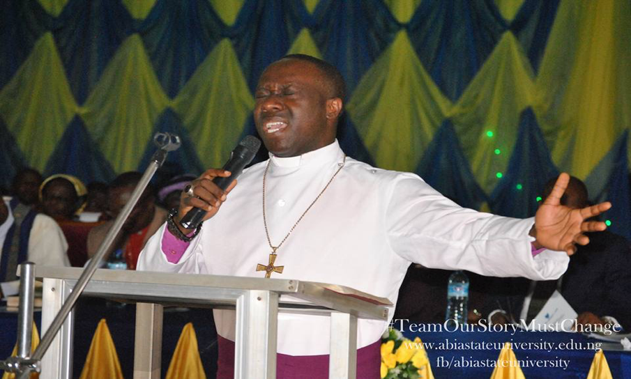 Rt Rev. Manasseh Okere – Anglican Bishop of Isuikwuato Umunneochi during the thanksgiving.