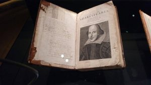 Mr William Shakespeares comedies, histories and tragedies book, made 400 years ago, at the University of Oxford.