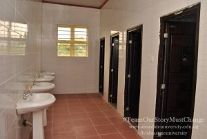 INNER VIEW OF THE HOSTEL TOILET IN UMUAHIA LOCATION